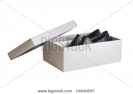 Pair Shoes In Shoebox, Isolated