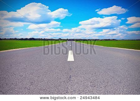Road In Field
