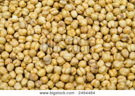 Roasted Chick Peas At The Local Market