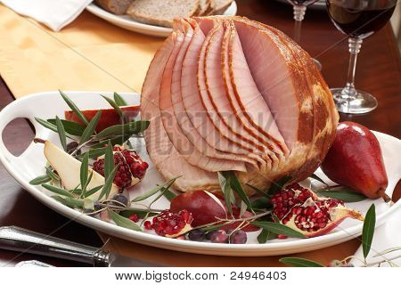 Ham, Pomegranate, And Olives