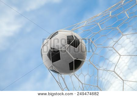 Soccer Ball On Goal With