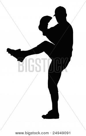 Baseball Pitcher Ready To Throw