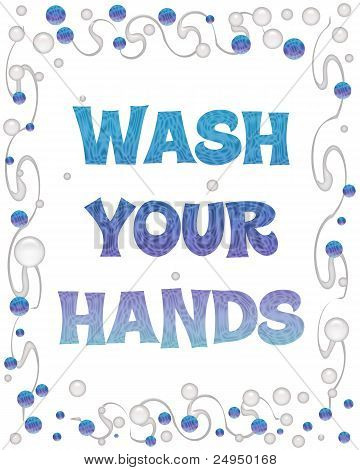 wash your hands bubbles