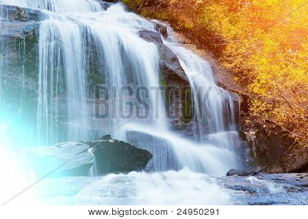 waterfall on Whitney Portal
