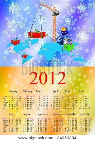 Dark Blue Dragon A Symbol Of New 2012.calendar