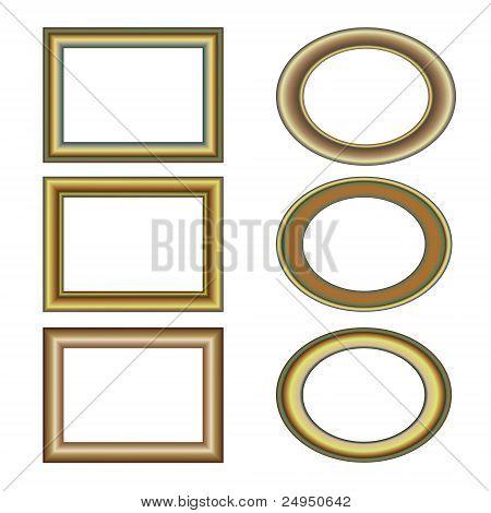 gold bronze frame set pattern