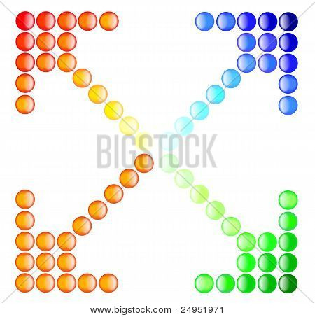 Button Arrows Color