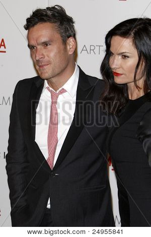 LOS ANGELES - NOV 5:  Balthazar Getty, wife Rosetta arrives at the LACMA Art + Film Gala at LA County Museum of Art on November 5, 2011 in Los Angeles, CA