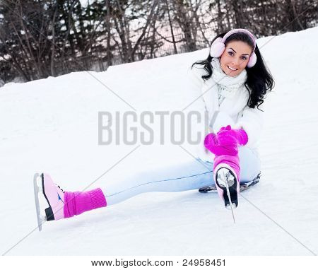 Girl Ice Skating