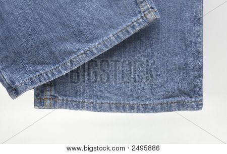 The Modern Designer Blue Jeans Over White