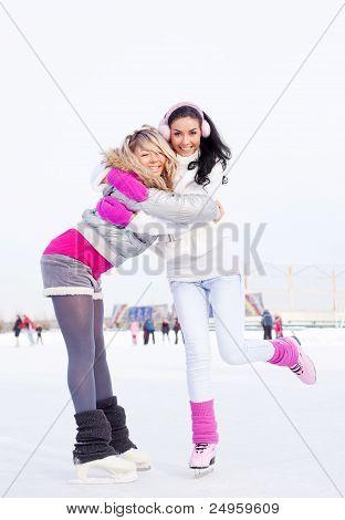 Mädchen-Eislaufen