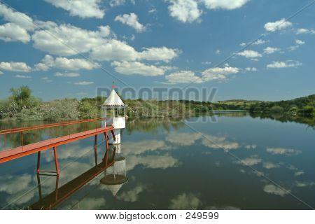 Sentry Box In Lake