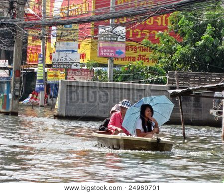 Sailing through the Floodwater