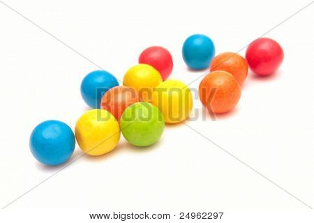 Colorful gumballs.