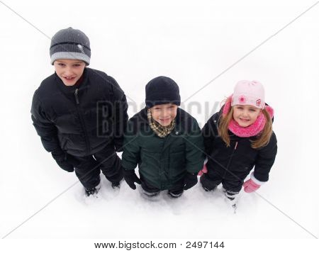 Kids In Winter Snow
