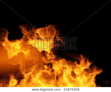 Fire. 3d rendering image.