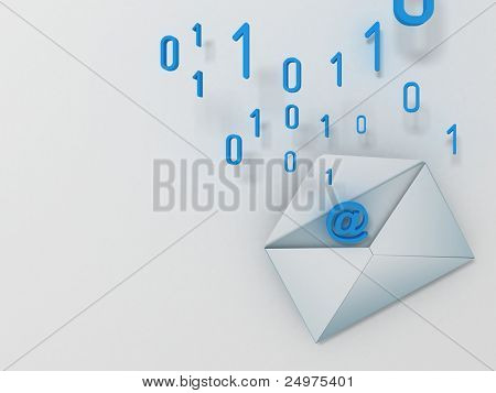 e-mail. 3d rendering
