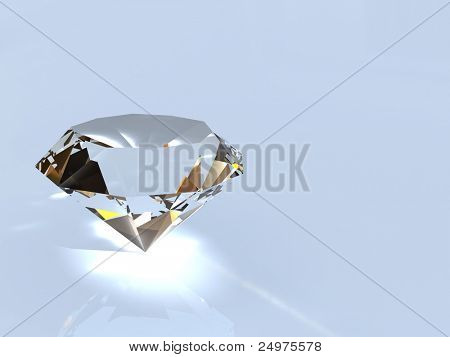Diamond. 3d rendering image.