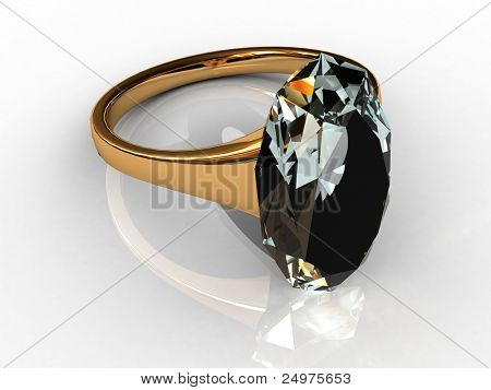 Ring with a topaz