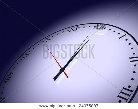 clocks 1. 3d rendering.