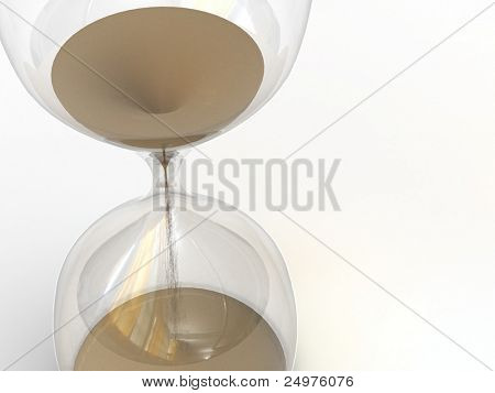 sand-glass. 3d rendering image
