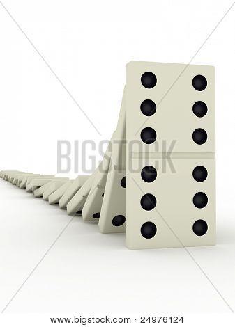 Domino. 3d rendering