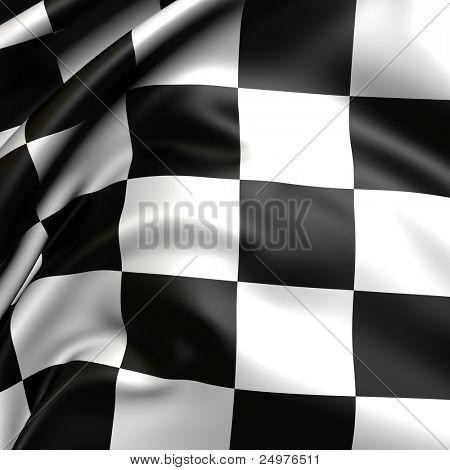 Checker flag.