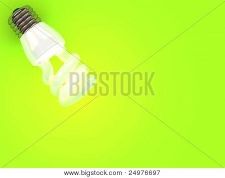 Fluoreszenz auf grünem Hintergrund