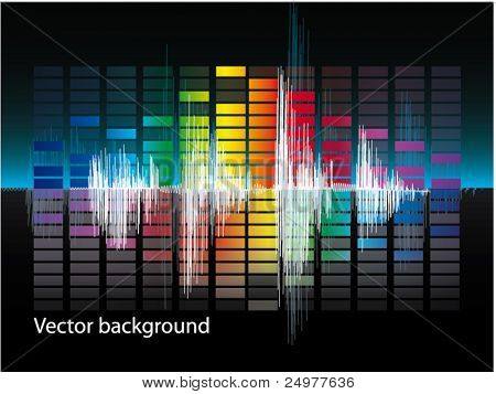 Vector equalizer Abstract Sound Wave. eps 10