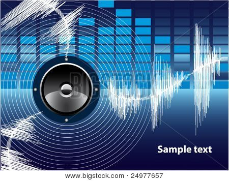 Vector Background Abstract Sound Theme.