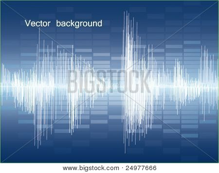 Vector Background Abstract Sound Theme. eps 10