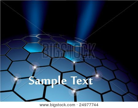 Abstract hexagonal sphere vector background eps10
