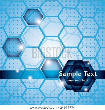 Abstract hexagonal  vector background eps10