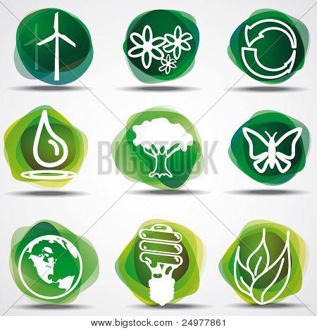 Conjunto de símbolos de eco.