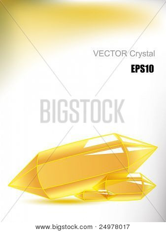Vector yellow crystal