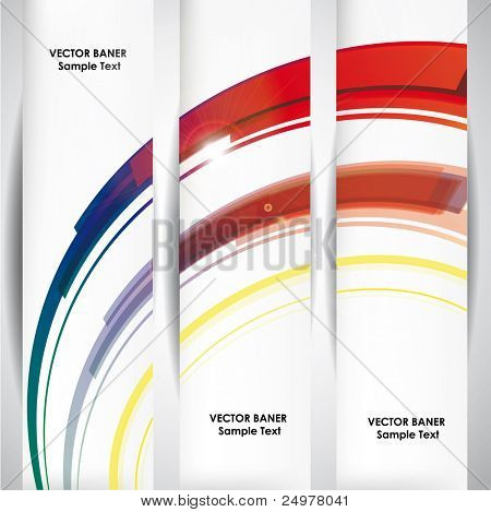 Set of the 160x600 abstract line banners.