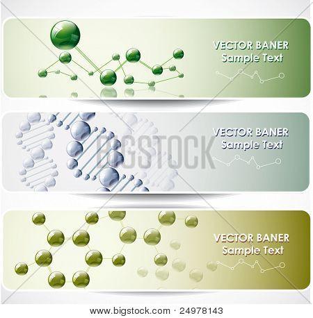 Banners de web Resumen molecular.