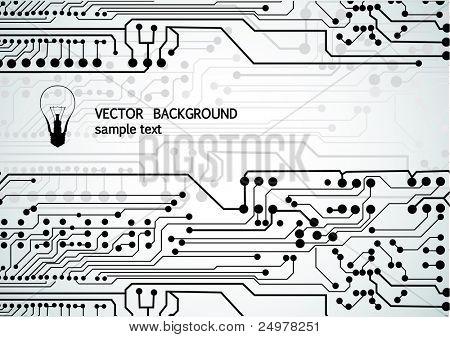 fondo abstracto de circuito