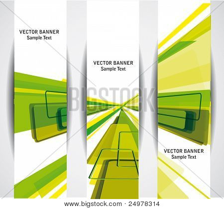 Set of the 160x600 abstract  banners.