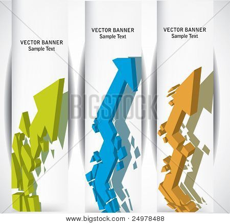 Abstract web banners.