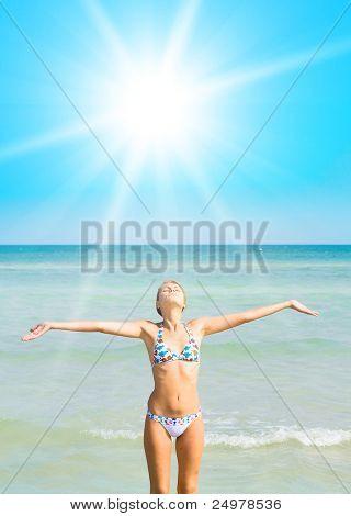 Bikini  On a Beach