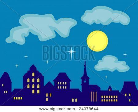 Lucky Star. Old Town Skyline