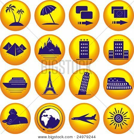 Travel. Icons set. ( Vector)