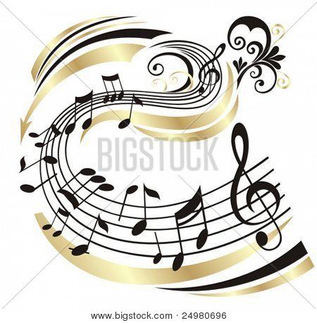 Nota de la música.