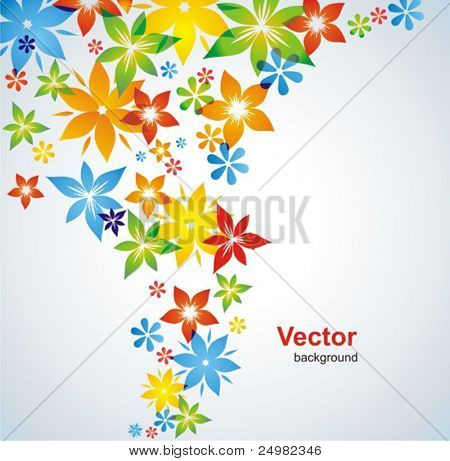 Flower colorful background. Vector.