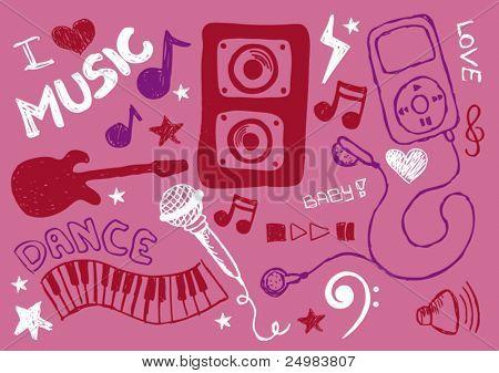 All girls love pop music doodles
