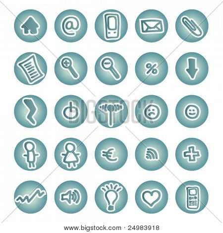 Icon Set for Web Applications buttons - easy to edit vector