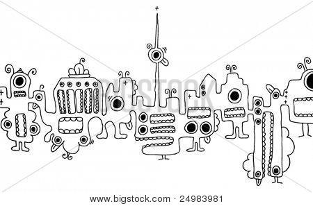 Berlin Kreaturen Skyline Souvenirs doodles