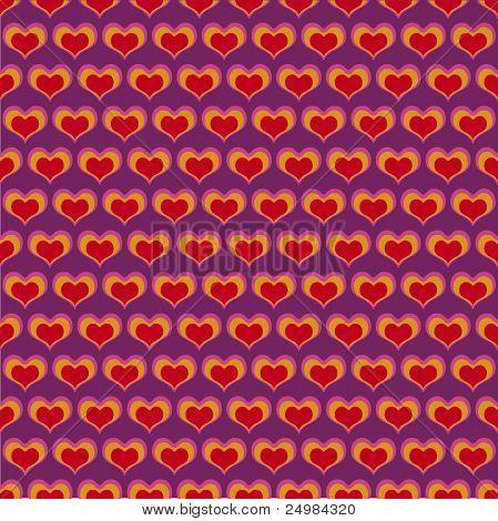 Transparente en forma de corazón San Valentín patrón en vector