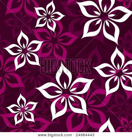 Seamless flower pattern in vector